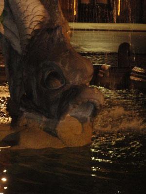 Particolare della Fontana del Tritone a Piazza Barberini, Roma