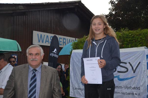 Siegerehrung Süddeutsche Meisterschaften mit Bürgermeister Heinrich Krempl