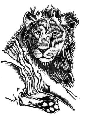 Tierkreiszeichen Löwe, Schabkarton