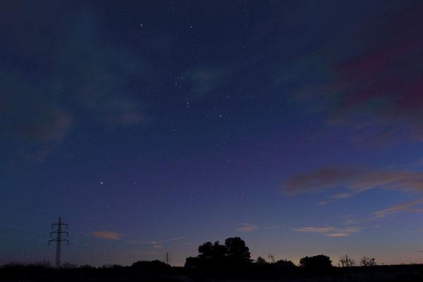 Blaue Stunde , Sternbild Orion