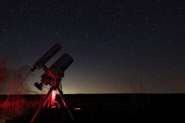 das Teleskop im fotografischen Einsatz