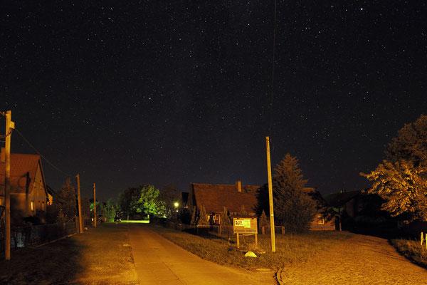 Dorf Gülpe bei Nacht