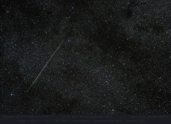 Messier 39 mit Perseidenspur , 2018