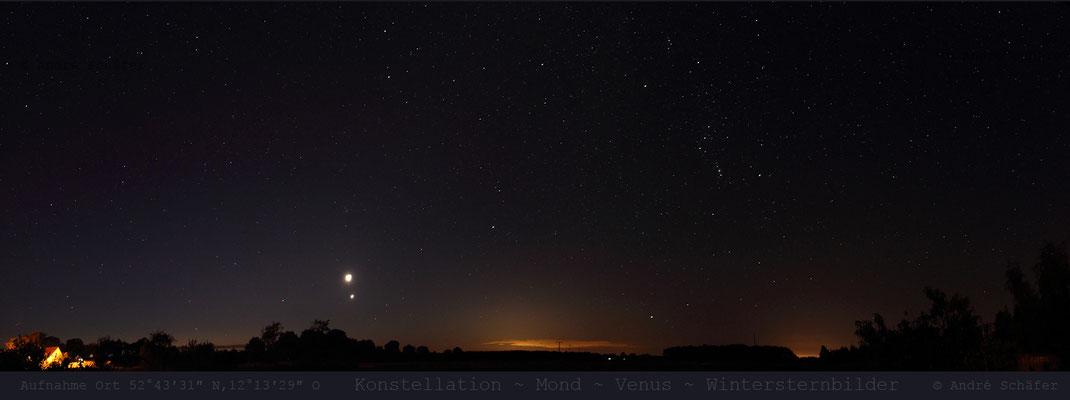 Mond Venus - Aufgang Osten