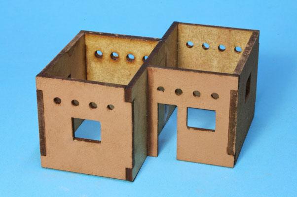 Das Gebäude nach Anleitung zusammenbauer