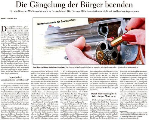 Artikel der Wochenzeitung Junge Freiheit über die German Rifle Association