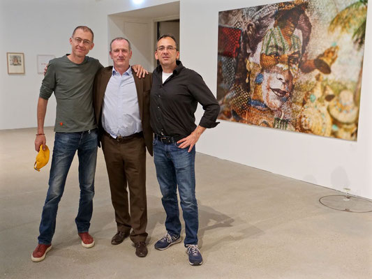 Nikolaus Eberstaller (Künstler), Dr. Stefan Haupt (Sammler), Pete Jones (Künstler)