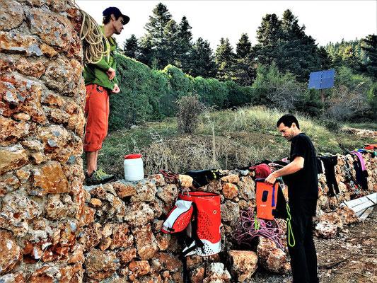 Bei unserem Host Vasillis in Griechenland