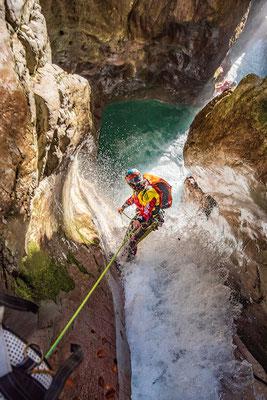 Aquatische Schluchten in Slovenien