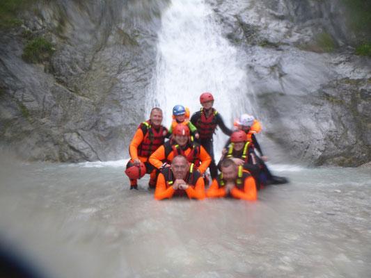 Eine Pause am Stamser Wasserfall