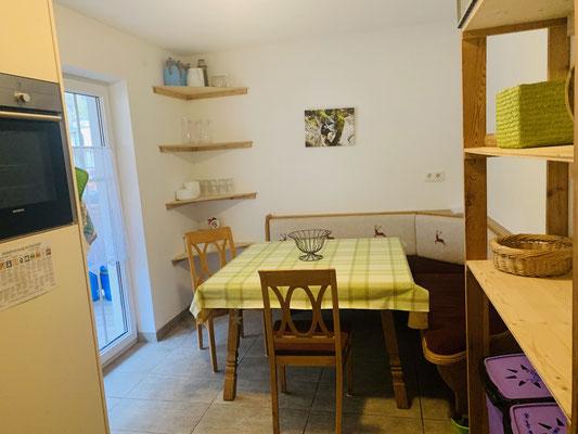 Essecke in der Hostelküche