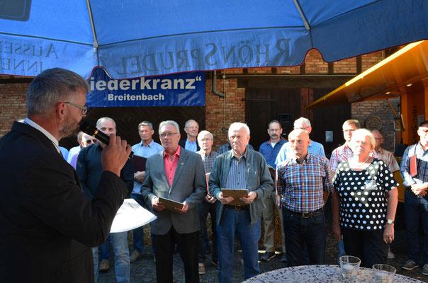 Ehrung langjähriger Mitglieder des Männergesangverein Breitenbach