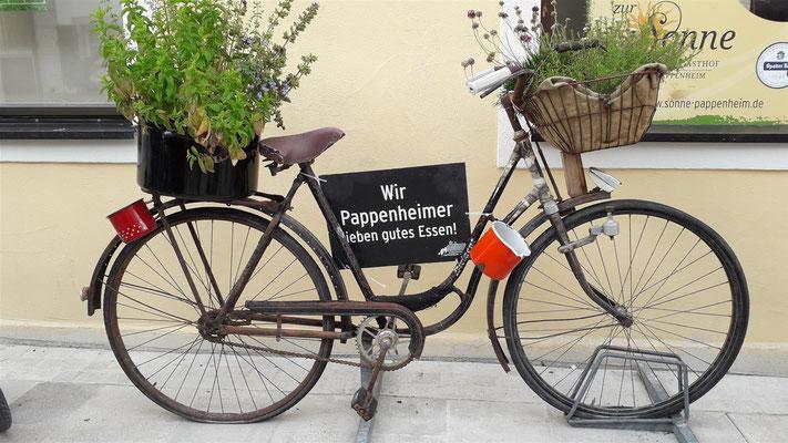 Mittagsrast in Pappenheim