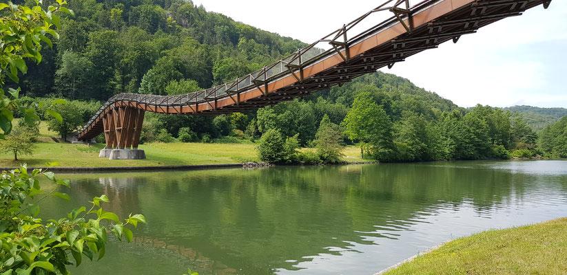 "Längste Holzbrücke "" Der Tänzelwurm"""