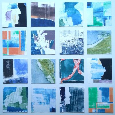 Puzzlejo (conjunto de 16 monotipias de 12 cm x 12 cm cada)