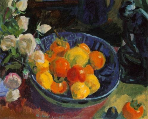 Kurt Hediger, Fruchtschale und Rosen