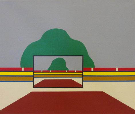 Beat Julius Müller,  Virtueller Horizont, eine Bild im Bild Situation