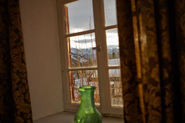 Blick aus Zimmer 1 auf Kaisergebirge