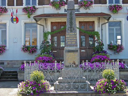 Le fleurissement de la mairie