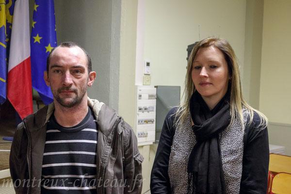 Vendredi 15 janvier 2016 - Gilles Roy, agent technique communal - Sarah Berghe, adjointe administrative