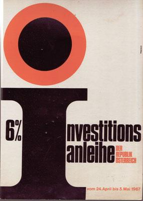 Investitionsanleihe  der Republik Österreich 1967.