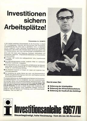 Investitionsanleihe der Republik Österreich 1966/67.