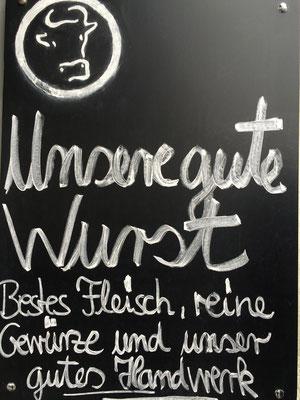 Bestes Fleisch, reine Naturgewürze und unser gutes Fleischerhandwerk!! Meister Eckarts Kölner Wurstküche in Lindenthal!!