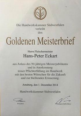 50 Jahre Fleischermeister Eckart