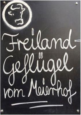 Freiland Geflügel vom Meierhof: vertrauensvoll, natürlich, bäuerlich
