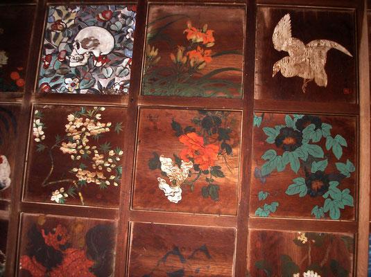 Les peintures du plafond