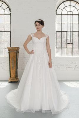 Brautkleid Spitze für Curvy Brides Brautmoden Per Sempre