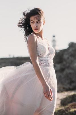 Brautkleid Vintage mit Häkelspitze Fara Sposa Brautmoden Per Sempre