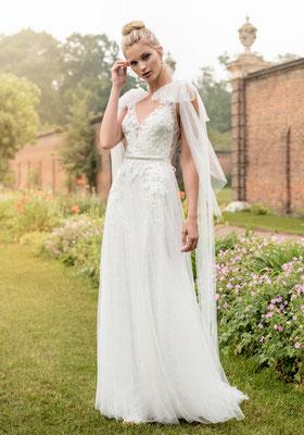 Brautkleid Spitze und Tüll Vintage Kelsey Rose Brautmoden Per Sempre