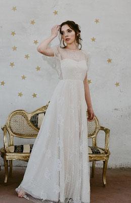 Leichte Spitze, Seide Nadia Manzato Brautmoden Per Sempre