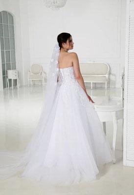 Brautkleid A-Linie Schnürung Natali Bridal Brautmoden Per Sempre