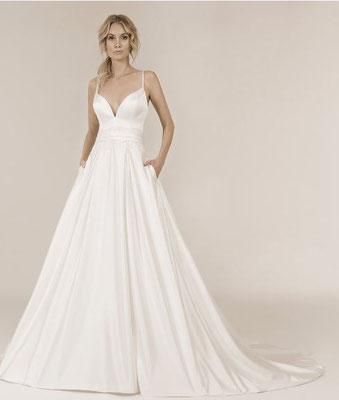Brautkleid A-Linie aus Satin