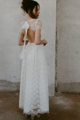 Brautkleid Wunderschöner Rücken mit Spitze Nadia Manzato Brautmoden Per Sempre
