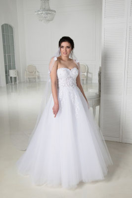 Brautkleid A-Linie mit Tüll Natali Bridal Brautmoden Per Sempre