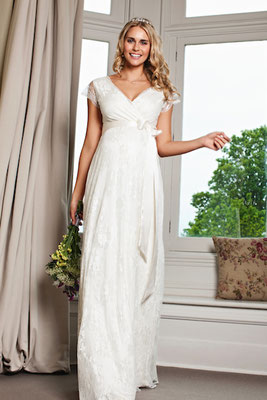 Umstandsbrautkleid Tiffany Rose Spitze Brautmoden Per Sempre