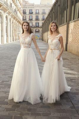 Fara Sposa Leichte A-Linie mit Softtüll Brautmoden Per Sempre
