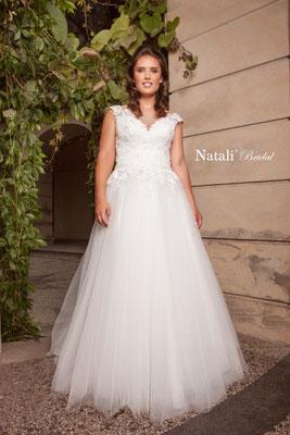 A-Linie figurschmeichelnd, für große Größen Natali Bridal Brautmoden Per Sempre