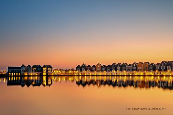 The Netherlands Houten Waterscape Sunset