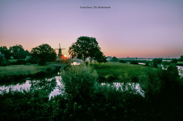 Gorinchem The Netherlands Landscape Sunrise