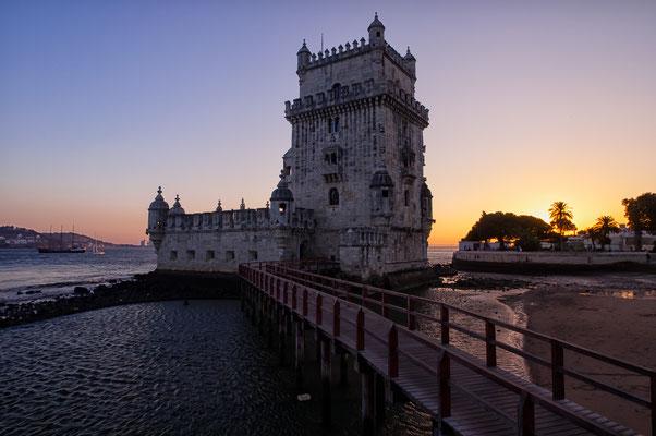 Portugal Lissabon Belem Waterscape Sunset