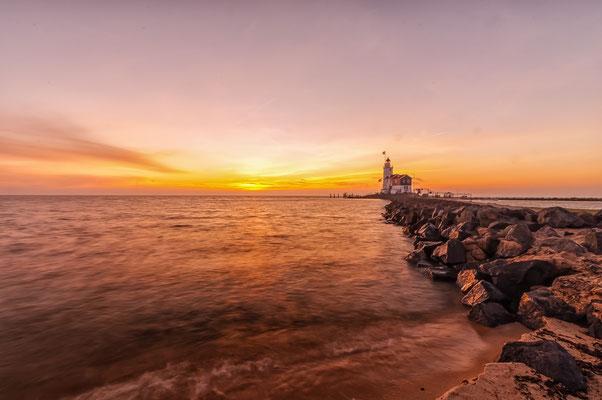 The Netherlands Paard van Marken Waterscape Sunrise