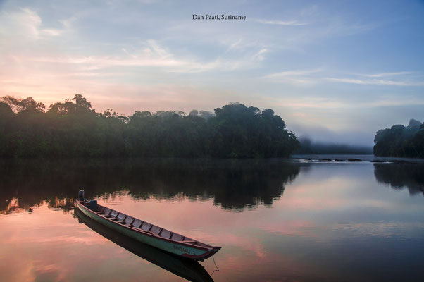 Suriname Dan Paati Waterscape Sunset
