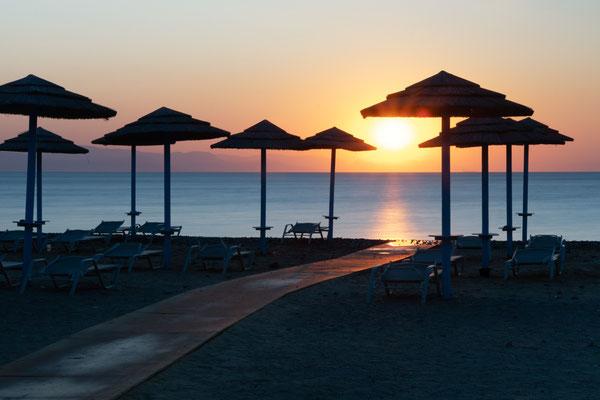 Griekenland Greece Kok Island Waterscape Parasol Beach Strand Sunrise Zonsopgang
