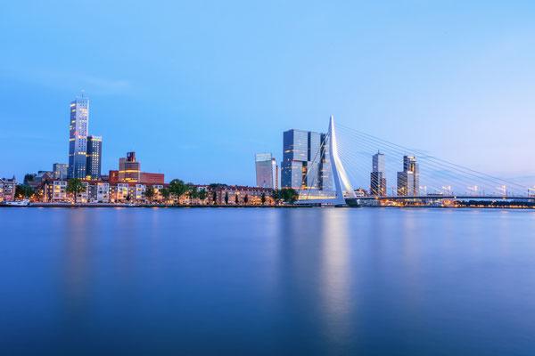 Rotterdam Skyline Netherlands Waterscape