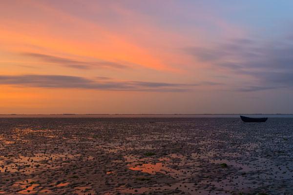 The Netherlands Oostergelde Krabbendijke Zeeland Waterscape Sunset
