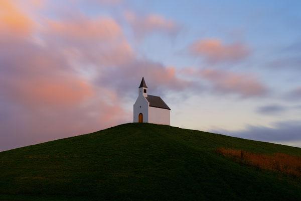 White Church Art Vinex Sunset De Terp Leidschenveen Netherlands